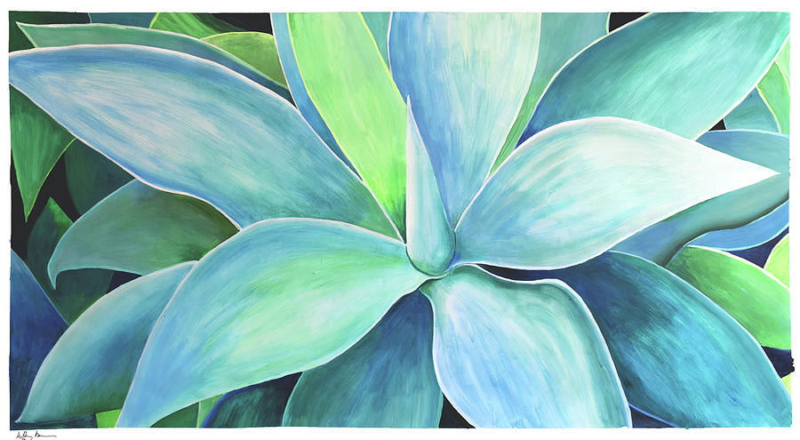 Powerful Painting - Agave #5 by Geoff Greene