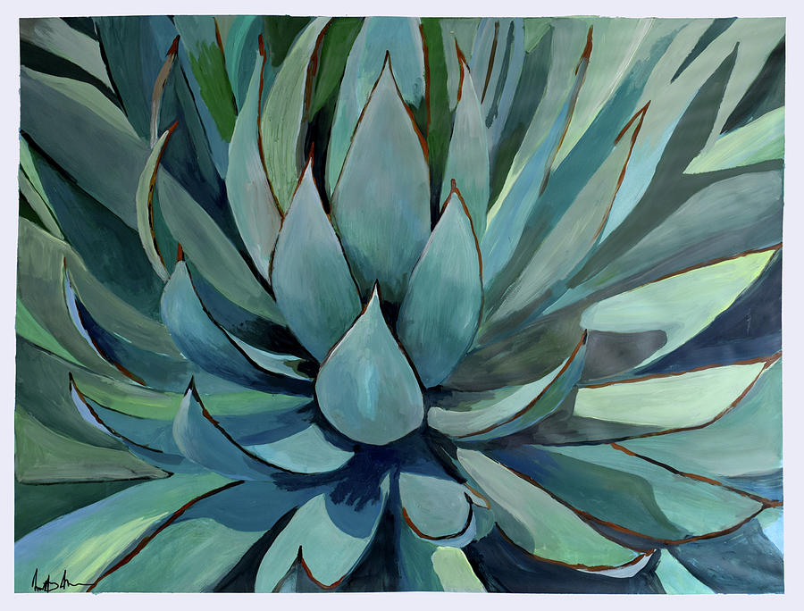 Pastel Painting - Agave Americana by Geoff Greene