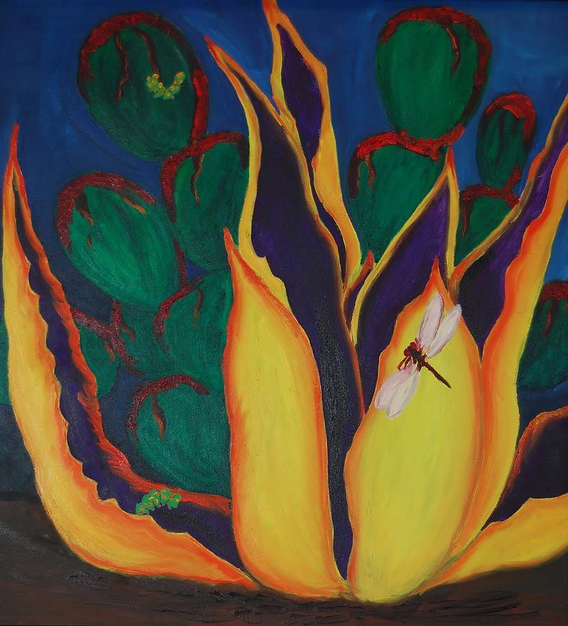 Cactus Painting - Agave by Charla Van Vlack