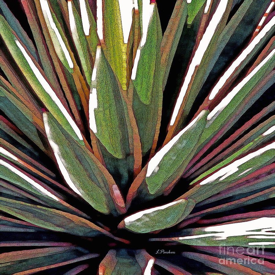 Desert Photograph - Agave Impressions 1 by Linda  Parker