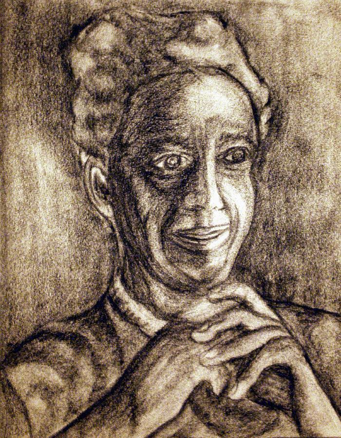Woman Drawing - Age And Grace by Tammera Malicki-Wong