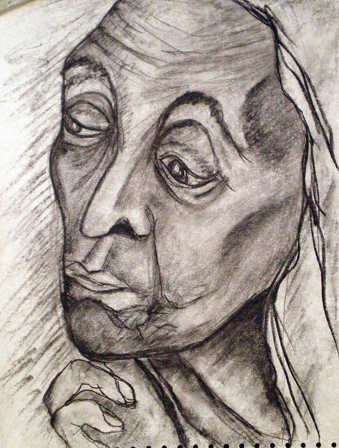 Age And Wisdom Drawing by Tammera Malicki-Wong
