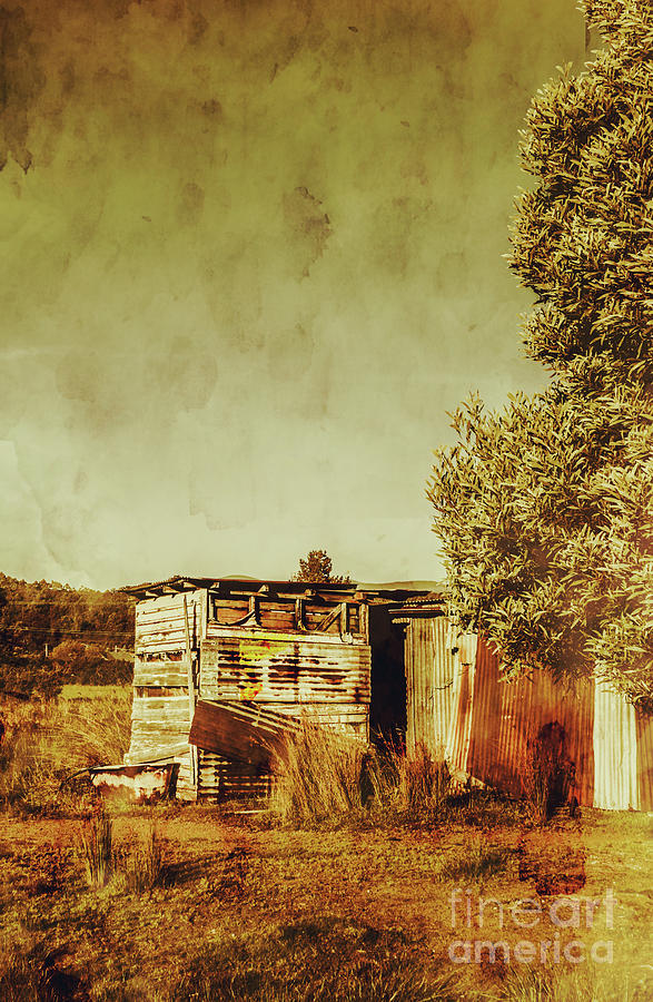 Rustic Photograph - Aged Australia Countryside Scene by Jorgo Photography - Wall Art Gallery
