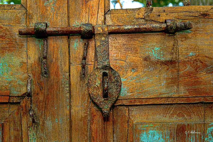 Gate Photograph - Aged Latch by Christopher Holmes