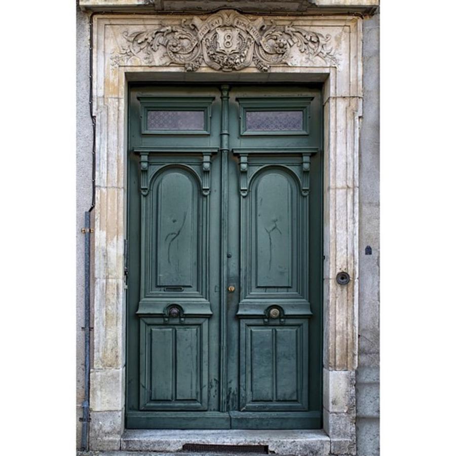 Europe Photograph - Agen Teal Green Door #door #doors by Georgia Fowler