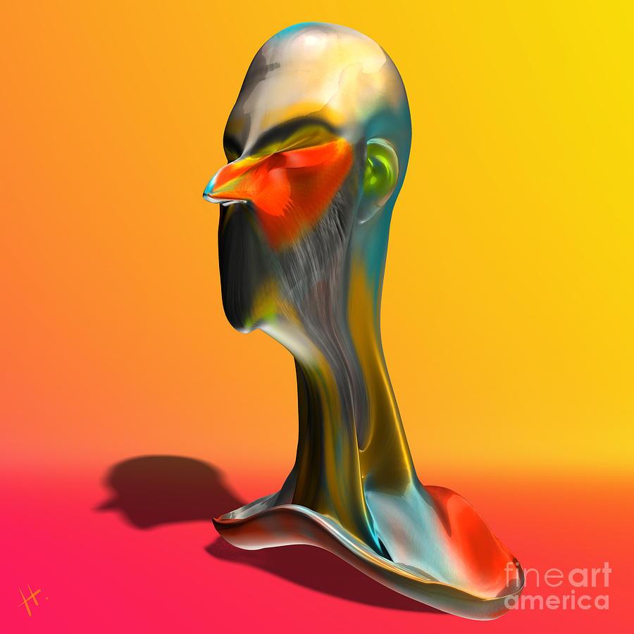 Portrait Digital Art - Agent Smith by Hayrettin Karaerkek