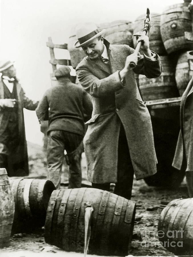 Al Capone Photograph - Agents Smashing The Kegs by Jon Neidert