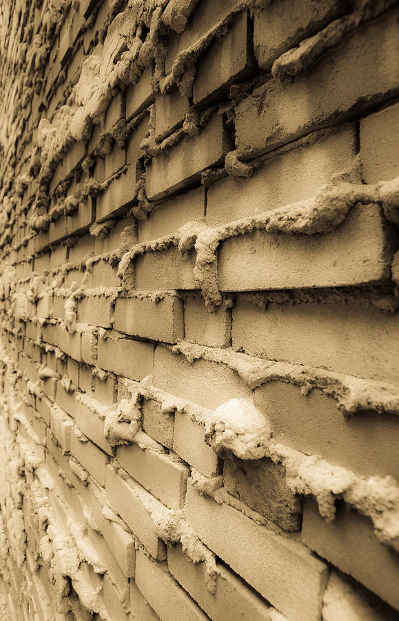 Bricks Photograph - Aging Brick Wall by Patrick  Flynn