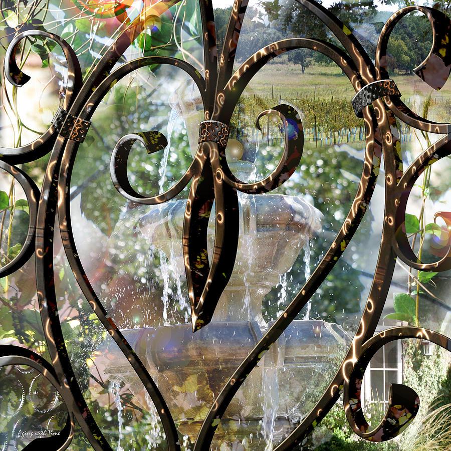 Vineyard Digital Art - Aging With Time by Leslie Kell