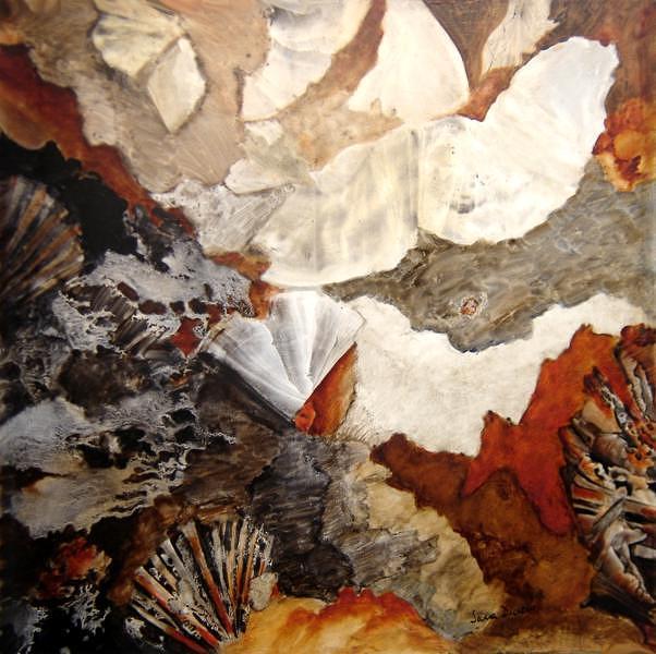 Landscape Painting - Agitando Esperanzas by Sara  Diciero