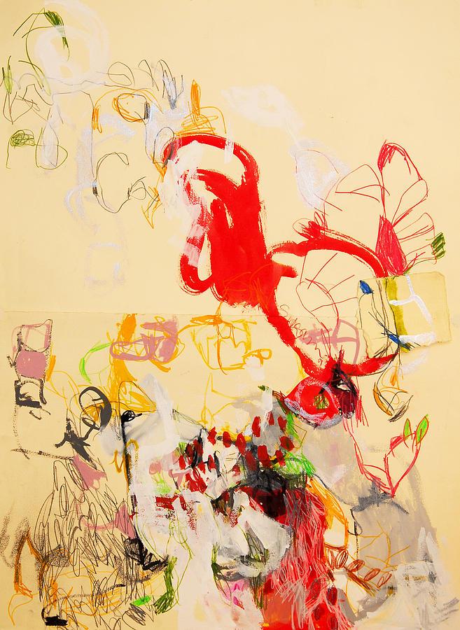 Abstract Drawing - Agitando Los Sentidos  by Sargam  Bagazgoitia