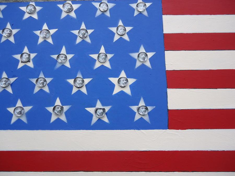 American Flag Frederick Douglass U.s. Flag  Abolitionist  Painting - Agitate by Otis L Stanley