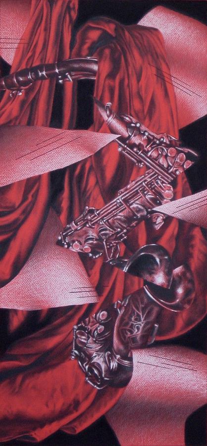 Music Drawing - Agitato by Rebecca Degenhardt