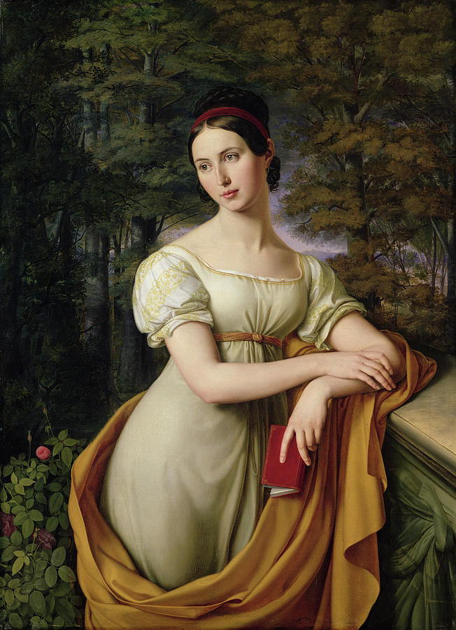 Female Painting - Agnes Rauch by Wilhelm Schadow