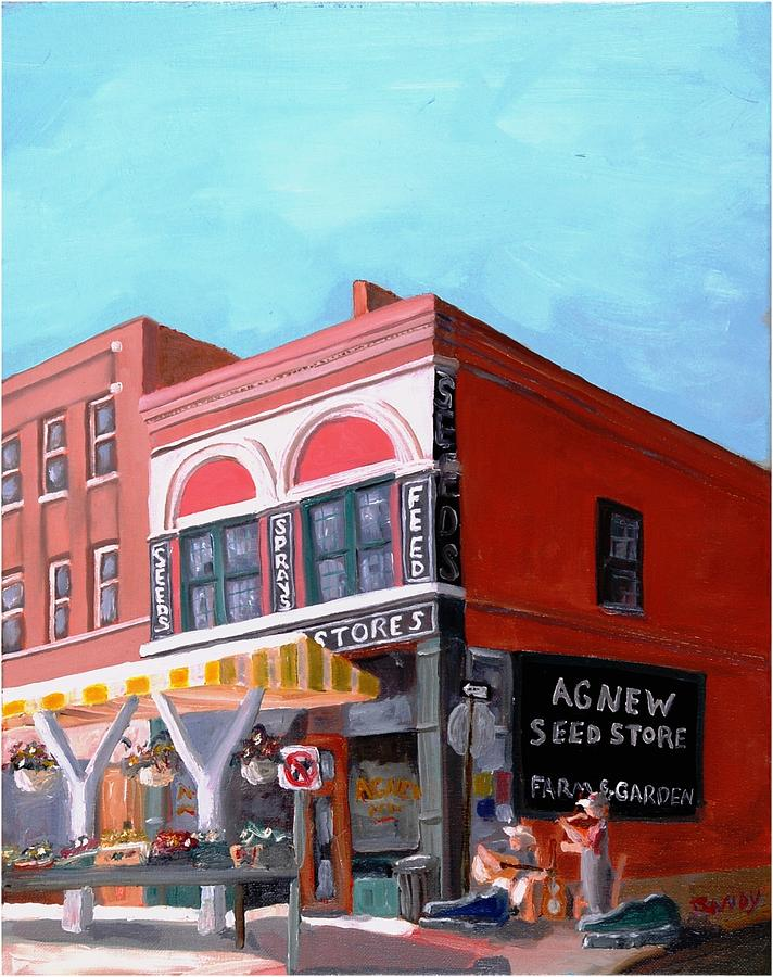 Roanoke Virginia Painting - Agnew Feed And Seed  by Todd Bandy