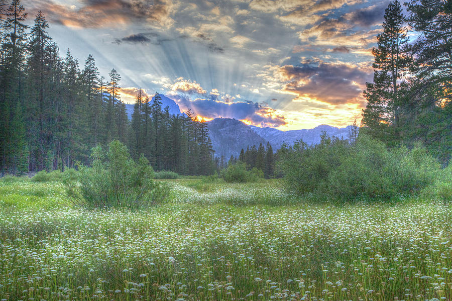 Eastern Sierra Nevada Photograph - Agnews Sunset by Scott Hadley
