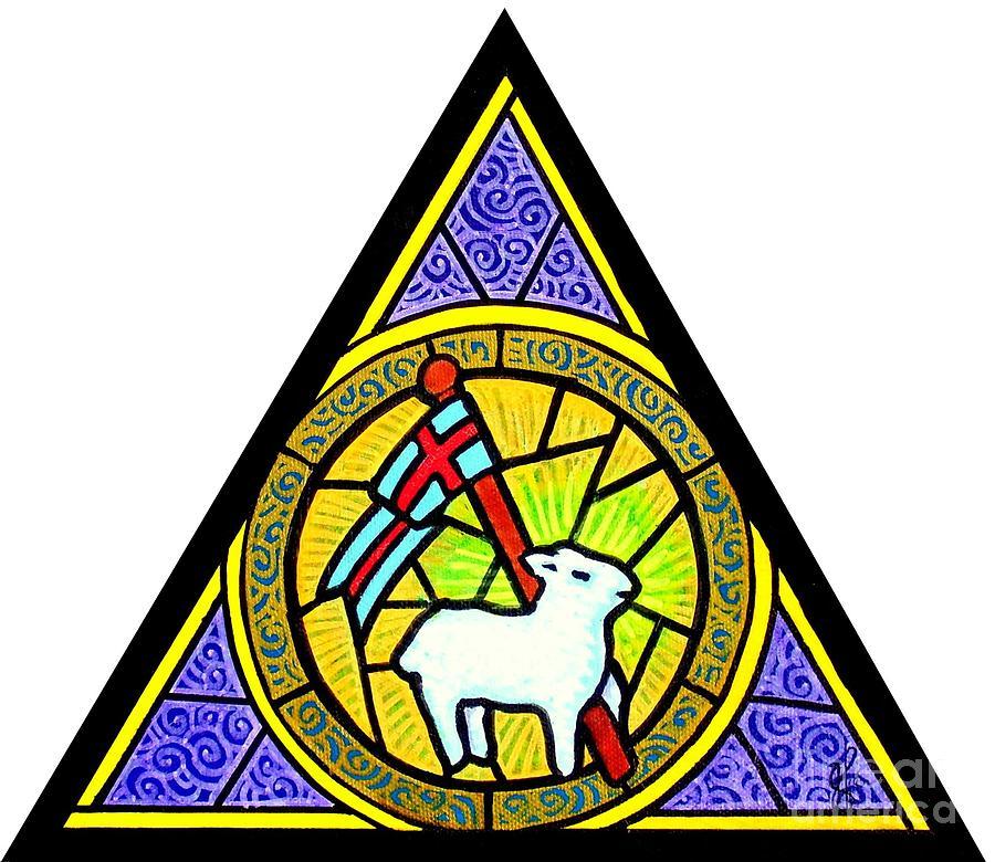 Lamb Painting - Agnus Dei by Jim Harris