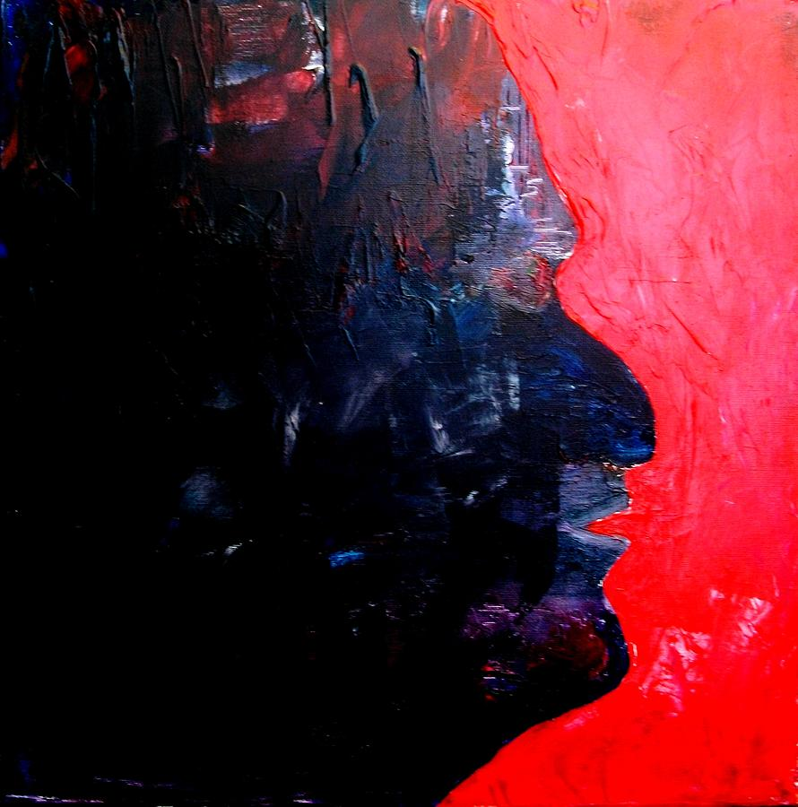Acrylic Painting - Agony -- Self-portrait by Bruce Combs - REACH BEYOND