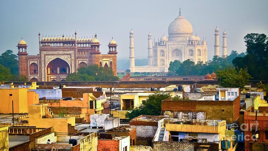 Asia Photograph - Agra Rooftop by Derek Selander