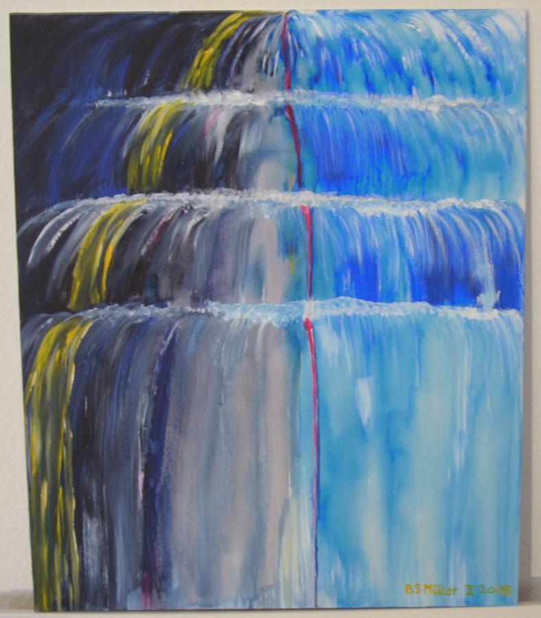 Agua Azul Painting by Bernhard Mueller