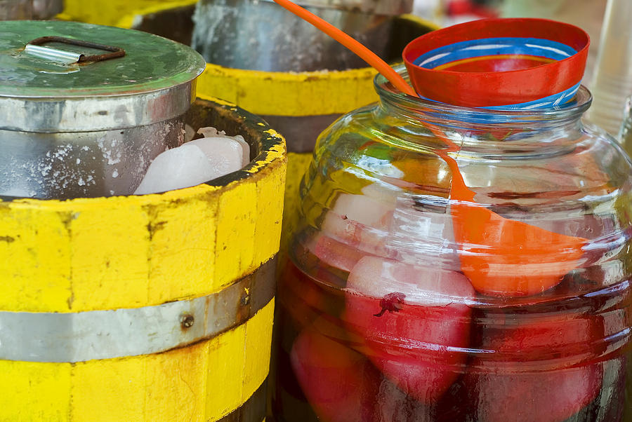 Beverage Photograph - Agua De Hamaica by Skip Hunt