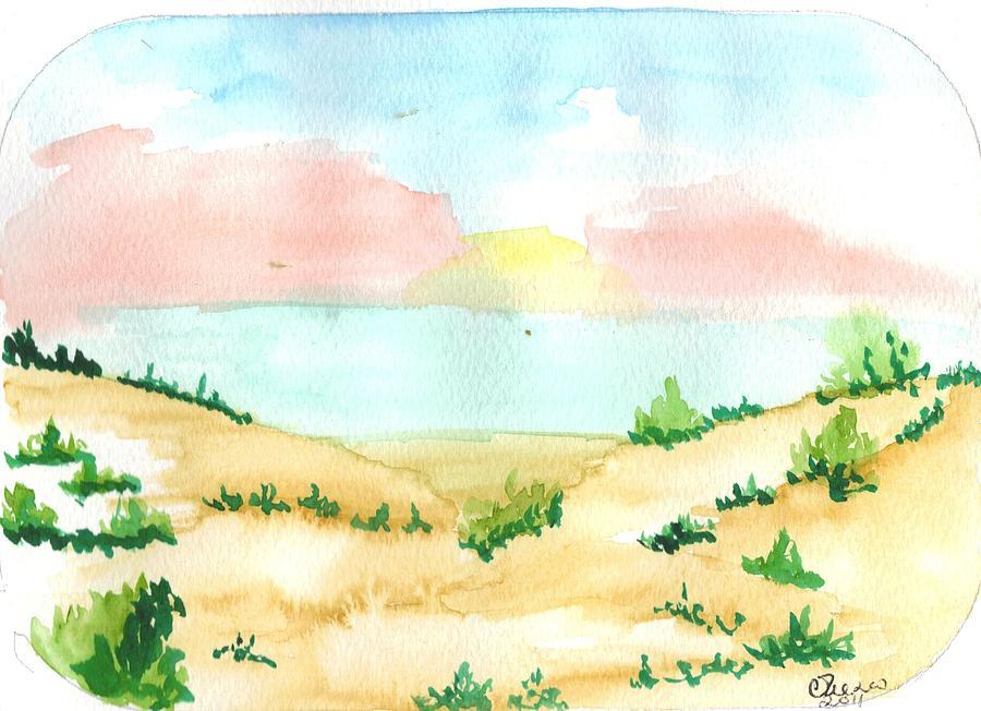 Landscape Painting - Aguarela2 by Maria do carmo Cid peixeiro
