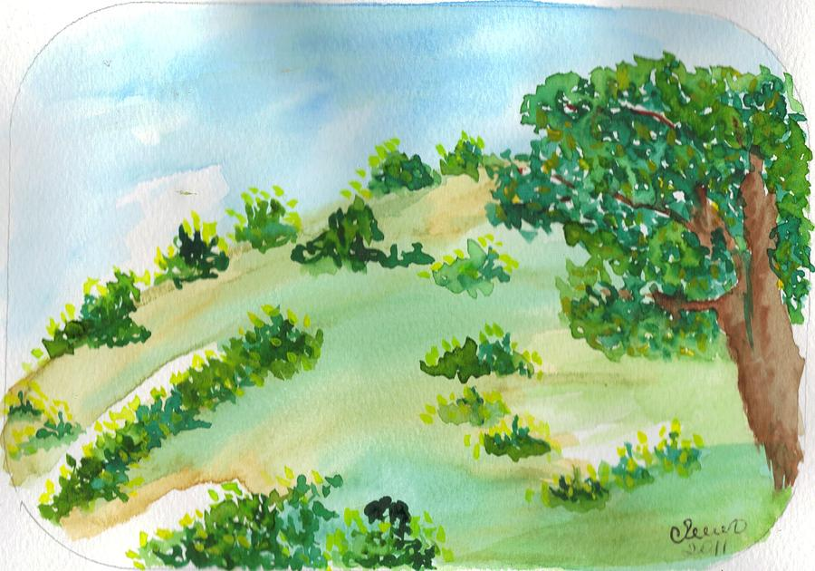 Landscape Painting - Aguarela5 by Maria do carmo Cid peixeiro
