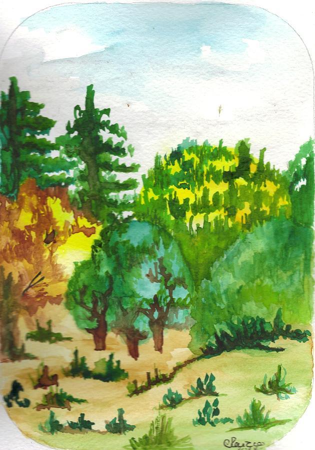 Landscape Painting - Aguarela6 by Maria do carmo Cid peixeiro