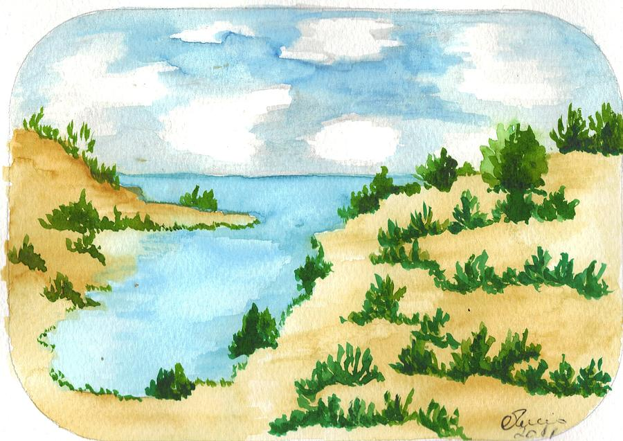 Landscape Painting - Aguarela8 by Maria do carmo Cid peixeiro