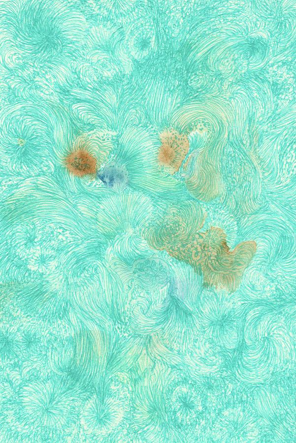 Pattern Drawing - Ah, - #ss16dw011 by Satomi Sugimoto