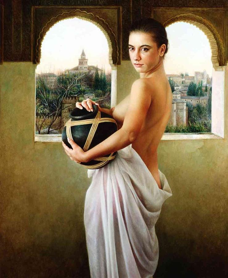 Ahambra  Painting by Maria Jose  Aguilar Gutierrez