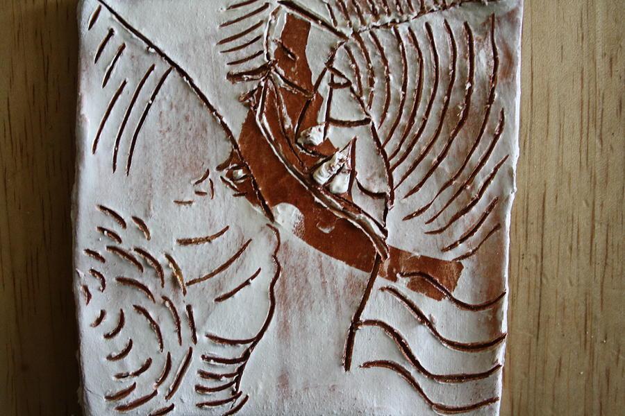 Jesus Ceramic Art - Ahead - Tile by Gloria Ssali