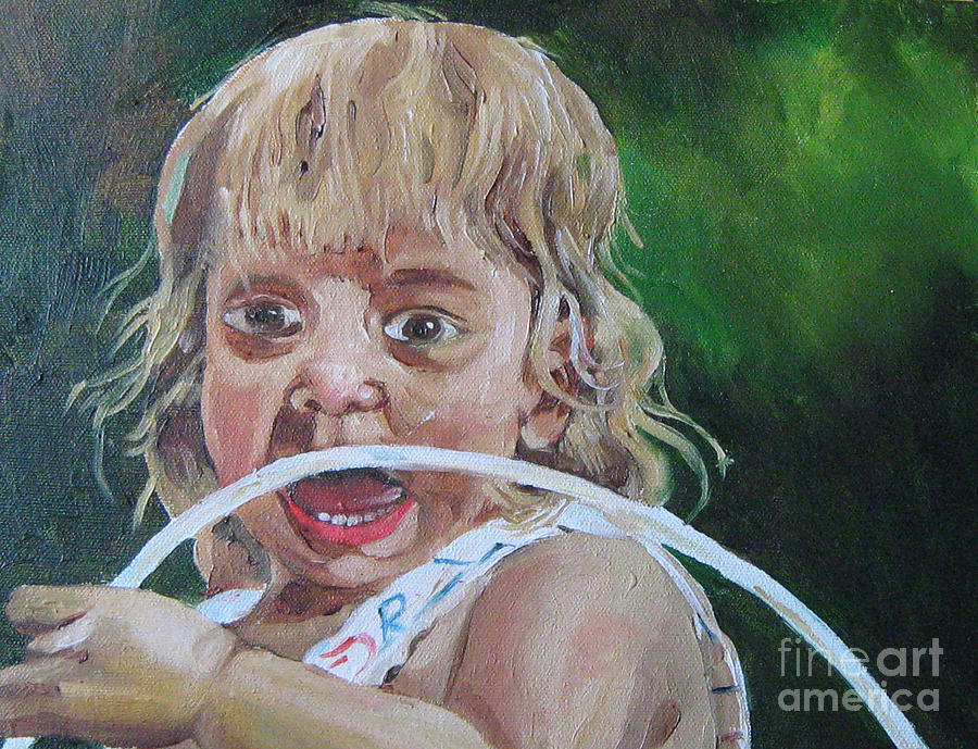 Baby Painting - Ahh by WorldWide Art Gallery