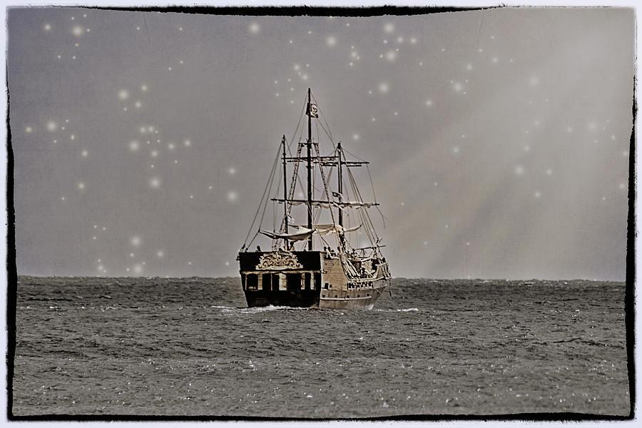 Ocean Photograph - Ahoy Matey by Linda Tiepelman