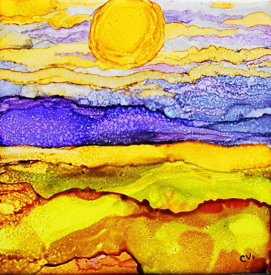 Golden Fields - A 242  by Catherine Van Der Woerd