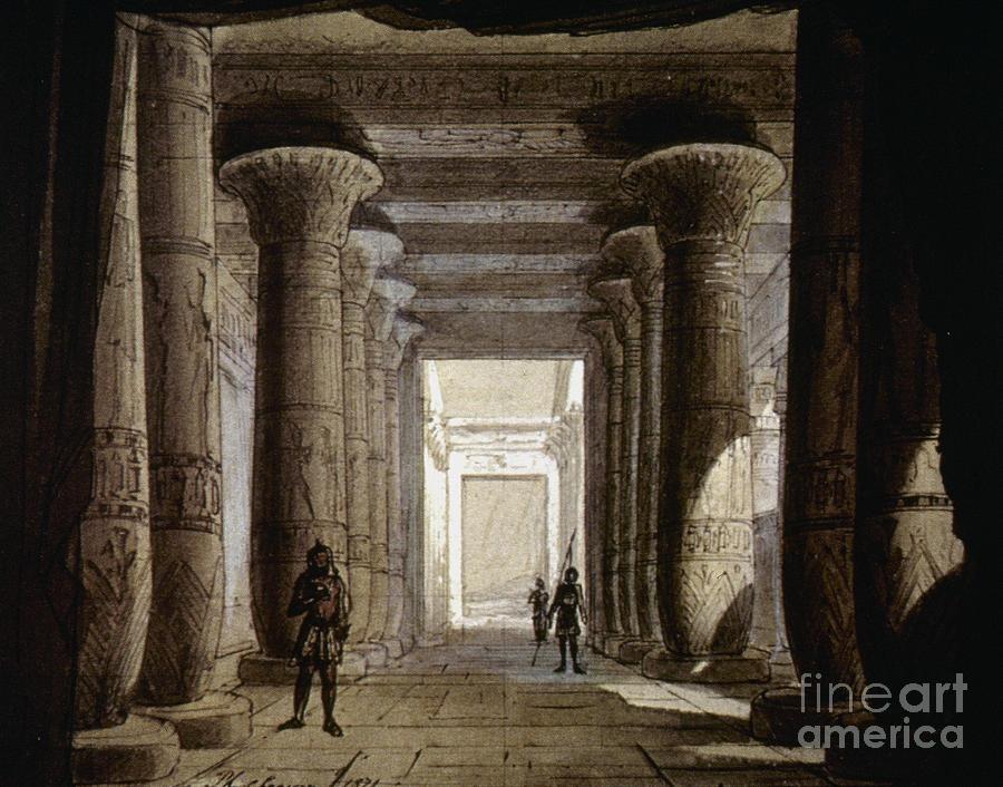 1871 Photograph - Aida Set, 1871 by Granger