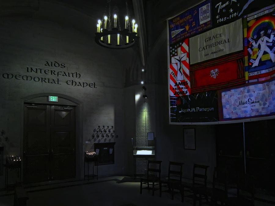 Aids Photograph - Aids Interfaith Memorial Chapel - San Francisco by Daniel Hagerman
