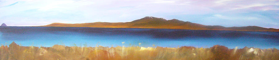 Landscape Painting - Ailsa Craig And Arran by Michael Murphy