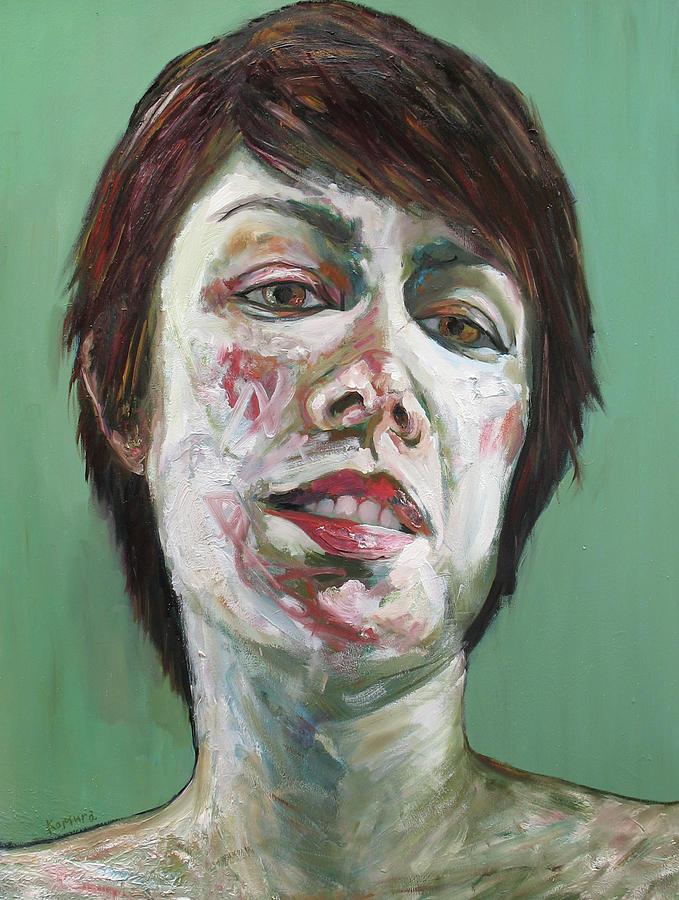 Portrait Painting - Aima 2 by Yuki Komura