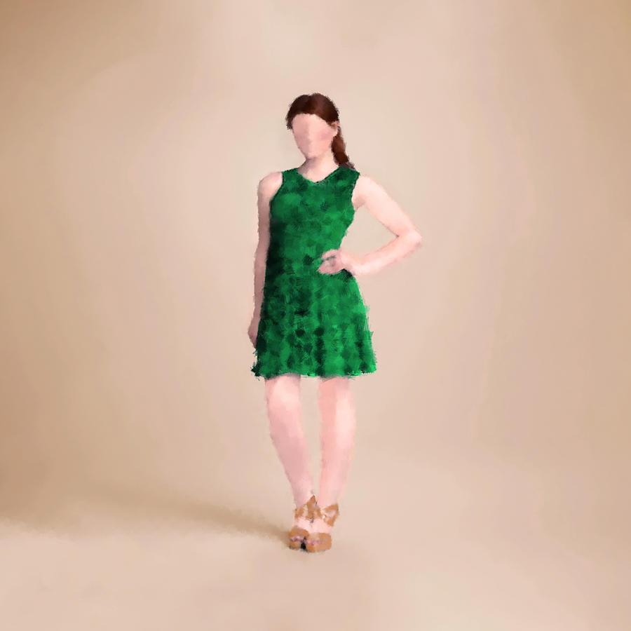 Fashion Digital Art - Ainsley by Nancy Levan