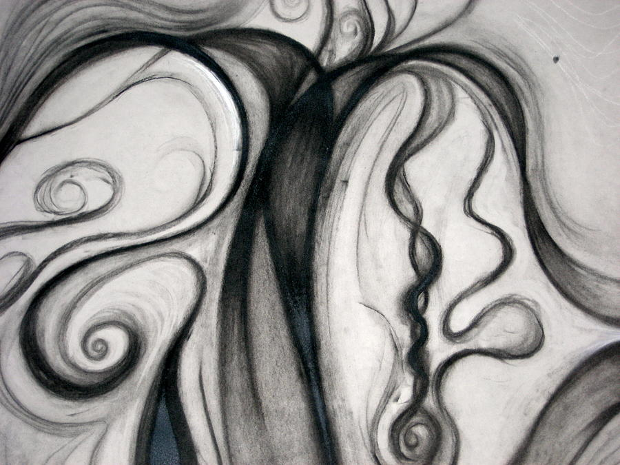 Swirl Drawing - air by Abigail Kelley