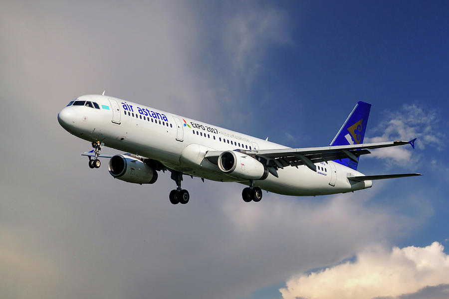 Airbus Photograph - Air Astana Airbus A321 by Smart Aviation