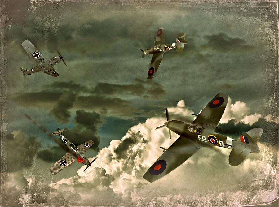 Spitfire Photograph - Air Attack by Steven Agius