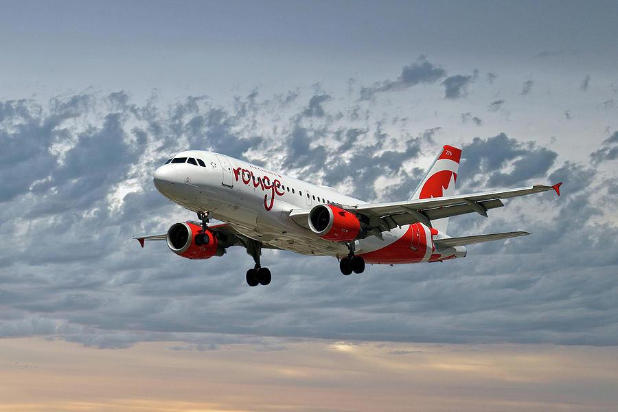 Air Canada Photograph - Air Canada Rouge Airbus A319 by Smart Aviation