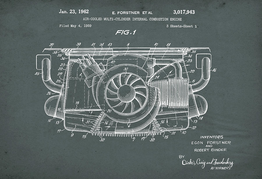Air Cooled Porsche Engine Patent