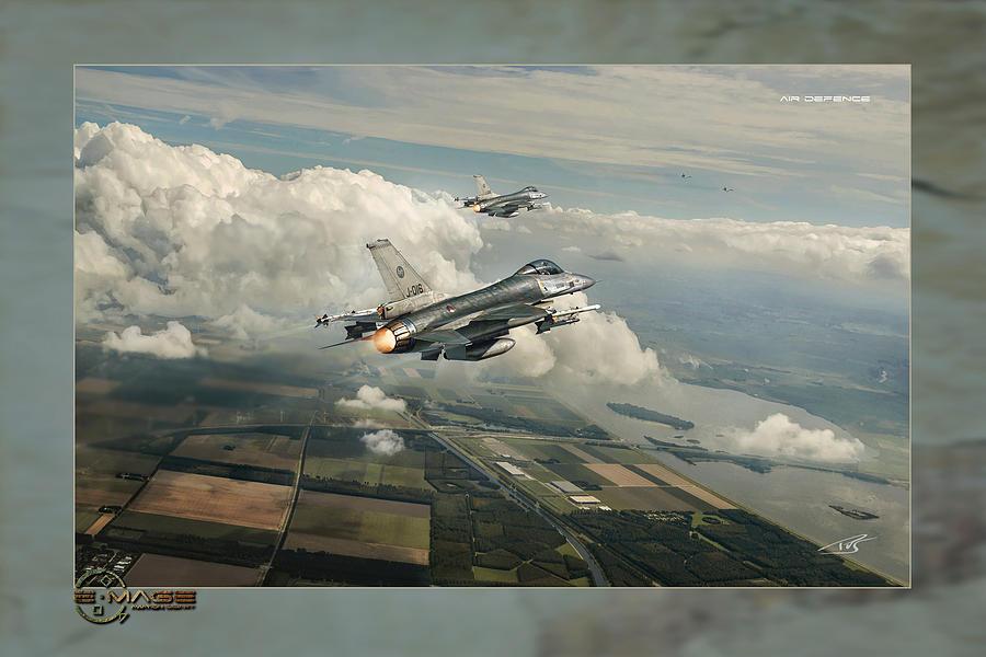 War Digital Art - Air Defence by Peter Van Stigt