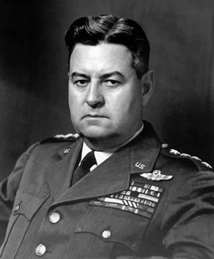 Curtis Lemay Painting - Air Force General Curtis Lemay  by War Is Hell Store