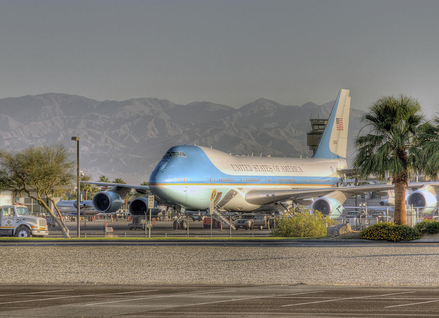 Air Force One in Palm Springs by Matthew Bamberg