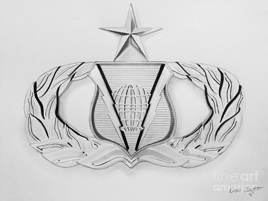 Air Force Drawing   Air Force Specialty Badge By Omari Slaughter