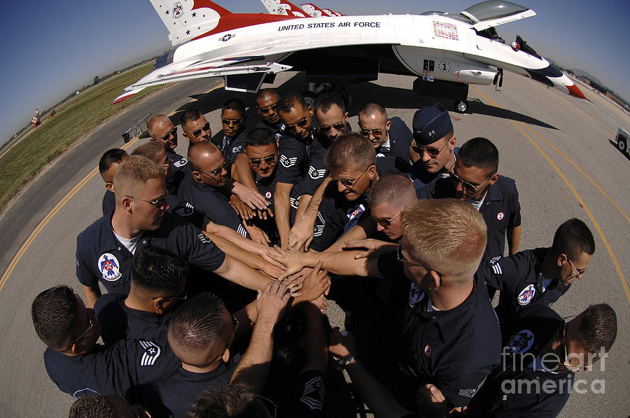 Adults Only Photograph - Air Force Thunderbird Maintainers Bring by Stocktrek Images